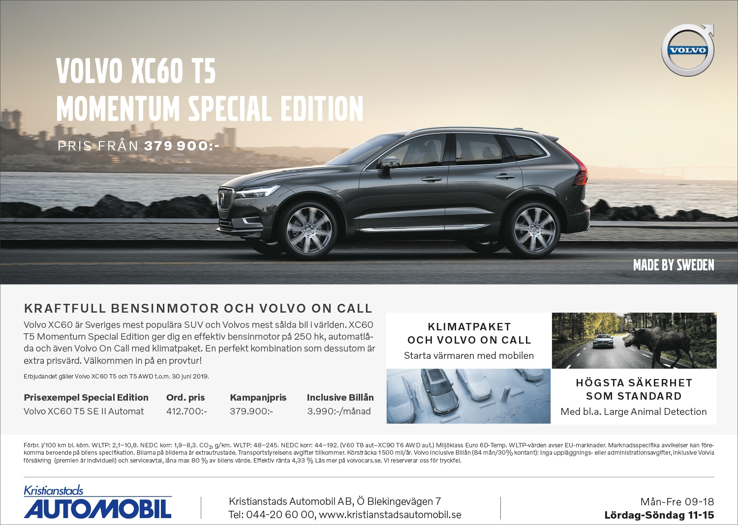 VOLVO XC60 T5 MOMENTUM SPECIAL EDITION