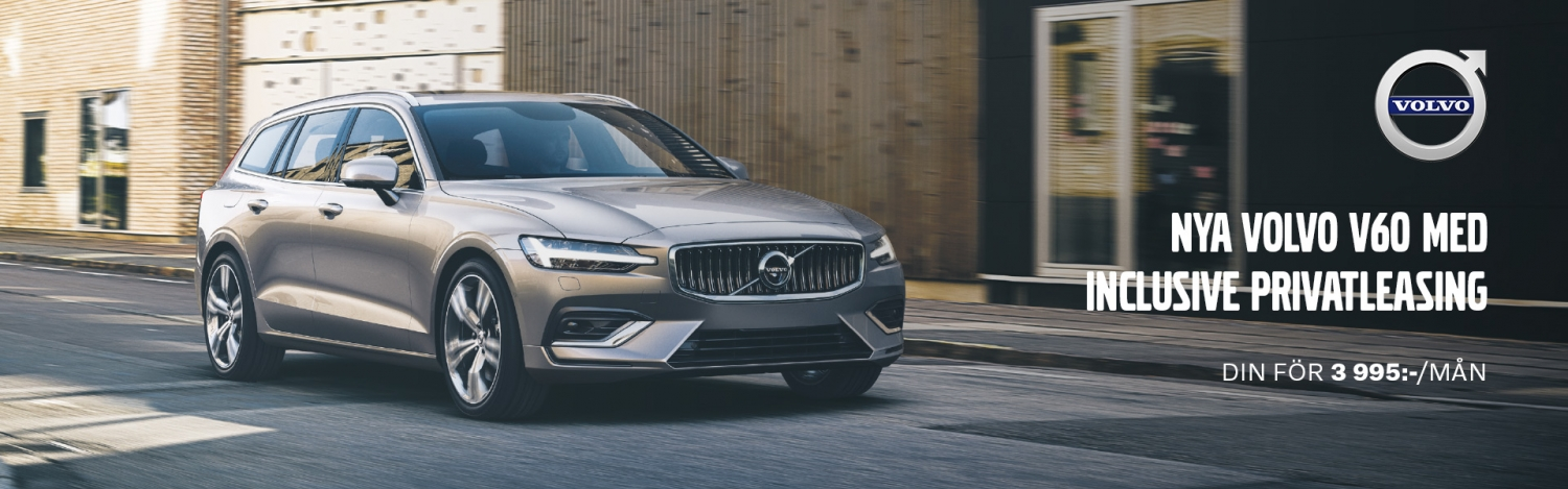 Nya Volvo V60 med inclusive privatleasing